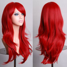 Women Cosplay Long Hair Full Wig Natural Curly Wavy Straight Synthetic Hair Wigs