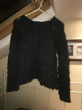 Ladies used small DKNY wooly jumper in charcoal grey