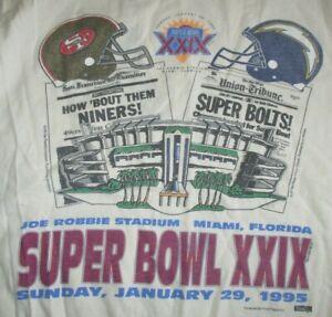 1995 Super Bowl XXIX SAN FRANCISCO 49ers vs SAN DIEGO Chargers NP (LG) T-Shirt