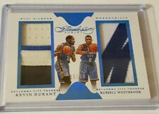 2015-16 Panini Flawless Kevin Durant Russell Westbrook Dual Diamond Patch #d /10