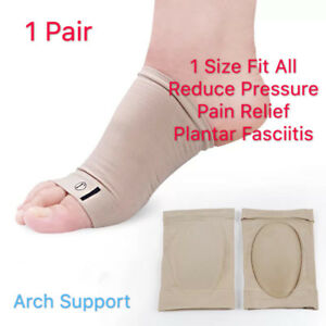 1 Pair Foot Arch Support  Gel Insole Flat Feet Pad Pain Relief Plantar Fasciitis