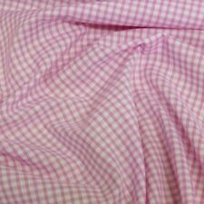 "Polycotton Fabric 1/8"" Gingham Check Material Dress Craft Uniform Checked"