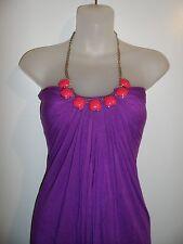Sky Clothing Brand XS Dress Rhinestone Crystal Bright Purple Pink Medallion Sexy
