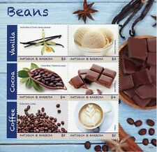 Antigua & Barbuda 2019 MNH Beans Coffee Cocoa Vanilla 6v M/S Food Nature Stamps