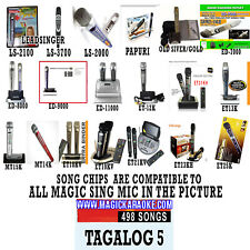 ENTERTECH MAGIC SING KARAOKE MIC TAGALOG5 Videoke SongChip LeadSinger Karaoke OK
