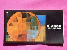 CANON PHOTOGRAPHIE DOCUMENT PUBLICITE CATALOGUE ANNEES 1970 product guide