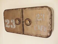 Vintage Industrial Metal wall store with doors cupboard cabinet storage urban