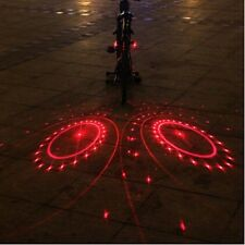 2Piece Bike Bicycle Laser Rear Light 6LED Tail Lamp Red / Green Flash 6 Modes