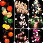 20/35 COTTON BALL FAIRY LED STRING LIGHTS PARTY PATIO WEDDING Christmas DECOR MN