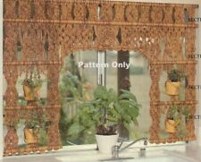 VINTAGE MACRAME GARDEN CURTAIN & HANGING PLANT HOLDER...COPY PATTERN ONLY