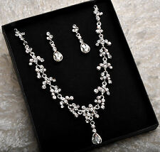 Rhinestone Crystal Drop Jewellery Set For Wedding New Year Party Bithday's Gift
