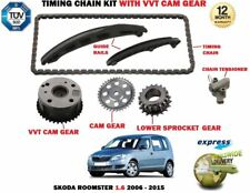 FOR SKODA ROOMSTER 1.6 105BHP 2006-2015 TIMING CHAIN TENSIONER KIT + VVT GEAR