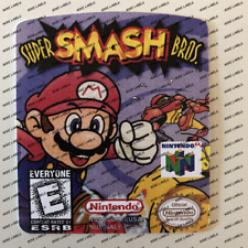Super Smash Bros US N64 Cartridge Replacement Cart Label Sticker Die Cut