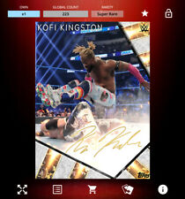 Topps Slam Card Trader - SIGNATURE SERIES - Kofi Kingston (GOLD) *Digital