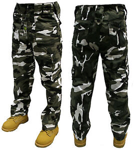 URBAN CAMO ARMY CARGO COMBAT TROUSERS PANTS 30 32 34 36 38 40 42 44 46 48 50