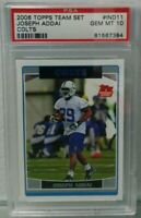 Joseph Addai 2006 Topps Team Set #IND11 Rookie Indianapolis Colts PSA 10 Rare rc