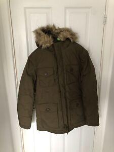 Selected Homme Men Coats SHSTORM - Parka- Fur - Khaki Ish Colour Size S