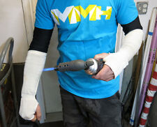 """Mechanic Arm Sleeves KNIT KEVLAR 14"""" Heat protection PPE Leather Welding"""