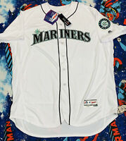 NWT'S Authentic Majestic Flex Base Seattle Mariners MLB Jersey SZ 56 On-Field