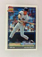 Kevin Maas New York Yankees 1991 Topps Baseball Card 435