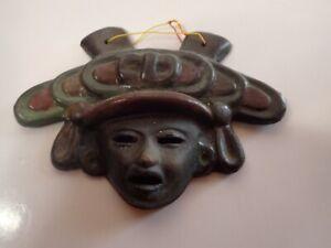 Mayan Face Mask Wall Art Ceramic - Indian
