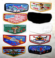 BOY SCOUT  ORDER OF THE ARROW  MIXED  FLAP LOT#4     JAMBO TRADE STOCK