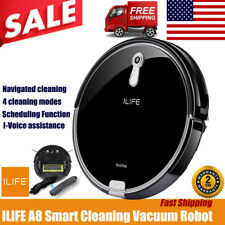 Ilife A8 Smart Robotic Vacuum Cleaner Camera Panoview Navigation I-Voice Sweeper