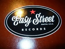 "EASY STREET RECORDS SEATTLE 4"" oval cursive Logo STICKER Decal pearl jam"