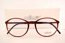 New Silhouette Eyeglass Frames SPX ILLUSION 2889 6062 Red Women SZ 51