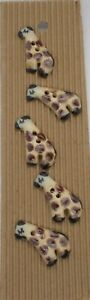 Giraffe, Handmade Ceramic Buttons, Incomparable Buttons (L259)