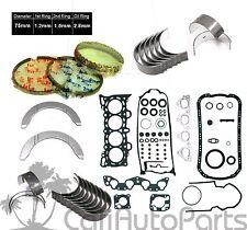 92-95 Honda Civic EX Del Sol Si V-Tec 1.6 SOHC D16Z6 Gaskets Rings *RE-RING KIT*