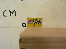 STICKER,DECAL UK ENGLAND   COUNTRY FLAG  FINISH FLAG  VINTAGE SLOTCAR RACING ?
