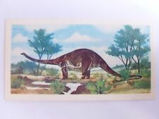 Brooke Bond Prehistoric Animals tea card 11. Cetiosaurus. Dinosaurs.