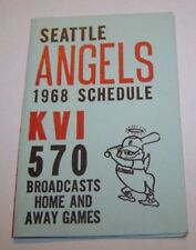 SEATTLE ANGELS 1968 BASEBALL POCKET SCHEDULE GAME PCL PACIFIC COAST LEAGUE MINOR