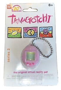 Bandai Mini Tamagotchi Series 2 Flocked Light Pink Fuzzy Pink Buttons NIP