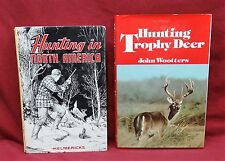 2 Book Lot-Hunting Trophy Deer 1st ed./Hunting in North America, 1st ed.
