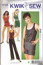 Dance Pant Shorts Racer Back Tank Top Exercise Ballet Sewing Pattern XS S M L XL