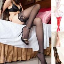 Women's Sexy Lace Top Stay Up Thigh High Stockings Nightclubs Glamour Pantyhose