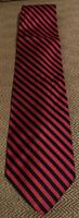 Brooks Brothers Men's 100% Silk Tie Navy Blue And Red Repp Stripe