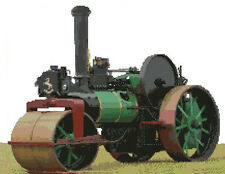 Steam Roller Traction Engine Counted Cross Stitch Kit