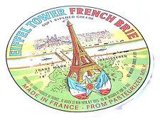 Très Grande Etiquette de Fromage  Tour Eiffel Tower Made in France  No 128