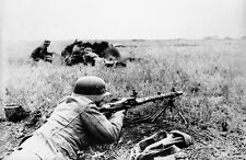 B&W WWII Photo German MG34 Eastern Front 1942  WW2 World War Two Wehrmacht
