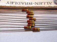 Allen Bradley 22k  5% 1/4 watt  RCR  Carbon Comp Resistors  10pcs