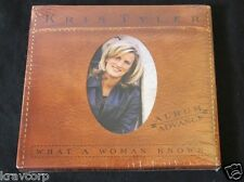 KRIS TYLER 'WHAT A WOMAN KNOWS' 1998 ADVANCE CD—SEALED