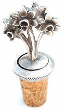 Daffodils Handcrafted From English Pewter Bottle Stopper + Gift Bag