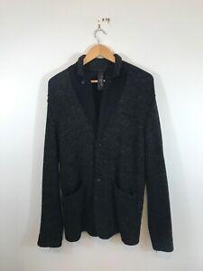 Transit Uomo Made In Italy Pinstripe Wool/Alpaca Blazer Jacket Large
