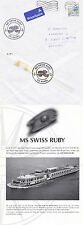 SWISS RIVER CRUISE SHIP MS SWISS RUBY A SHIPS CACHED COVER & INFO SHEET