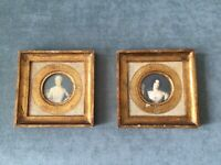 Vintage Gold Gilt 2 (TWO) Wooden Picture Frame Florence Italy Scene G.Vanghi
