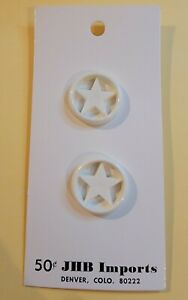 JHB imports 1960s 2 buttons Vintage star white 3/4