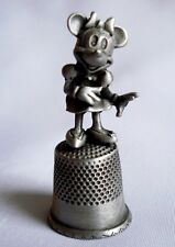 Collectible Disney Minnie Mouse Pewter Thimble